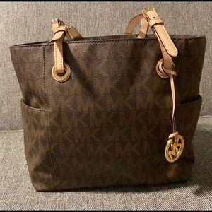 Michael Kors Tote Brown MK with Storage Bag